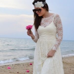 Dresses & Skirts - Boho lace wedding dress